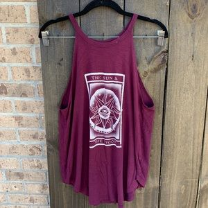 American Eagle The Sun & The Moon Graphic Tank S